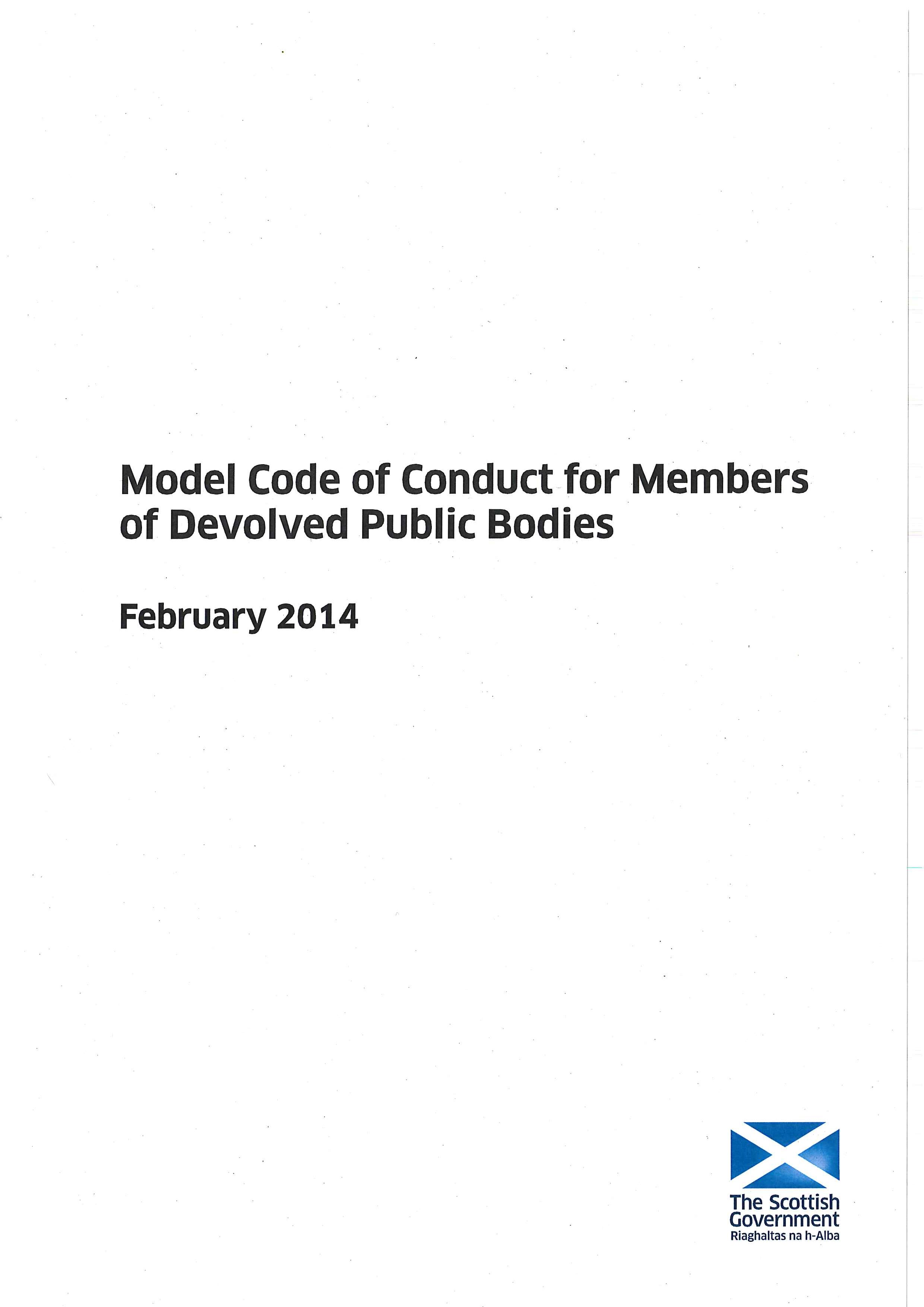 Model Code of Conduct for Members of Boards of Devolved Public Bodies (2014)