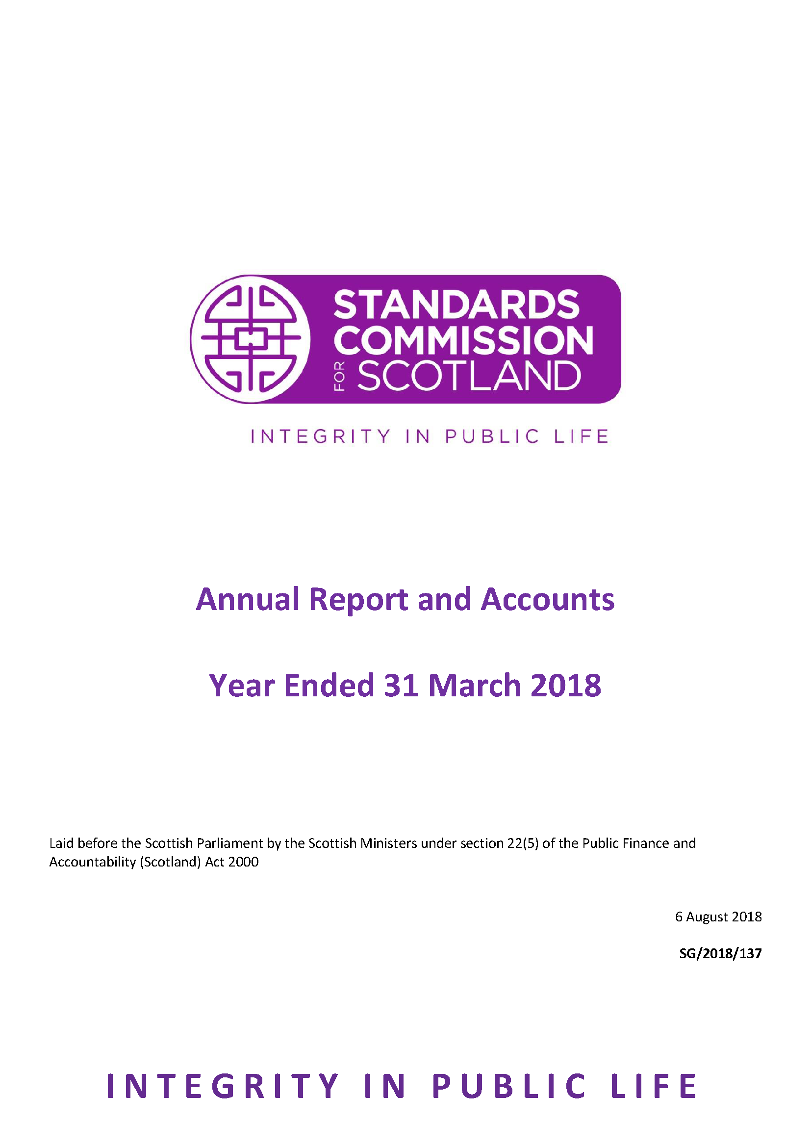 Annual Report and Accounts