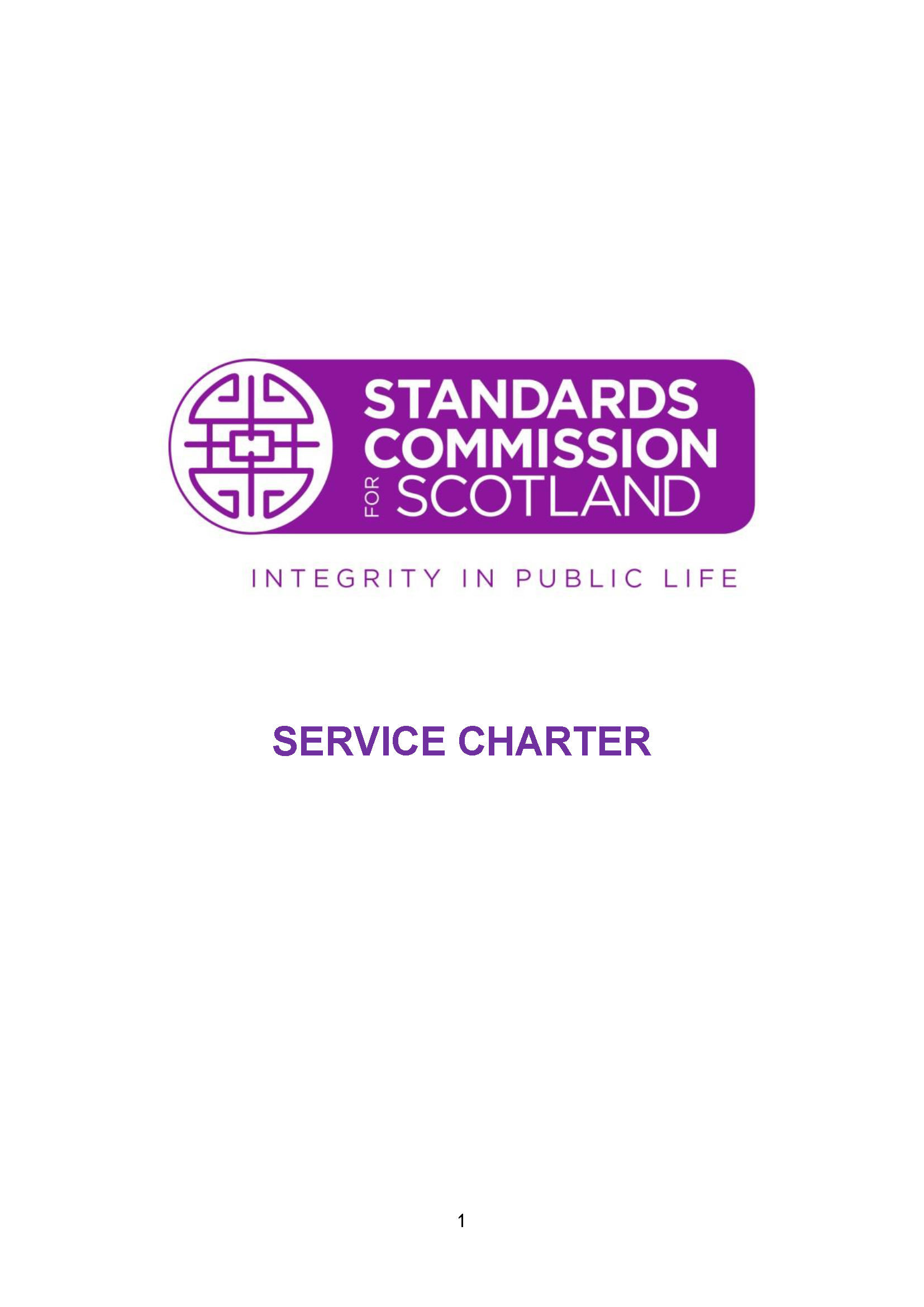 Standards Commission Service Charter
