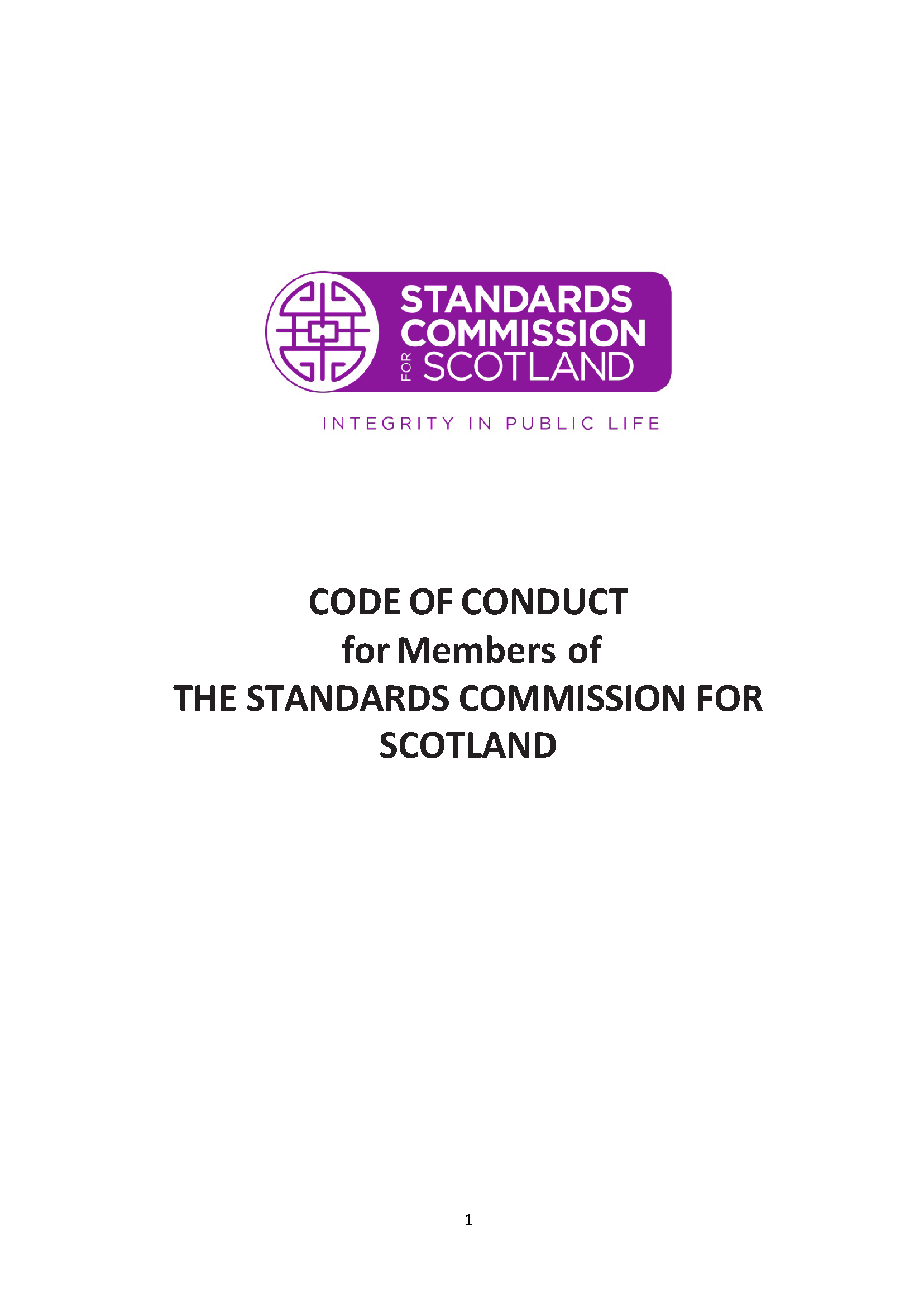 Code of Conduct for Standards Commission Members